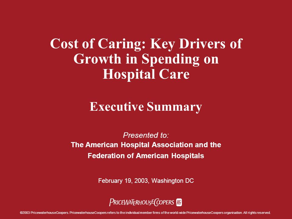 For Information Contact: Sandy Lutz Research Director, National Healthcare Practice (214) 754-5434 Jack Rodgers, PhD Director, Health Policy Economics Practice (202) 414-1646