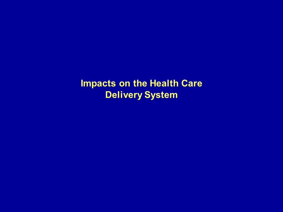 Impacts on the Health Care Delivery System