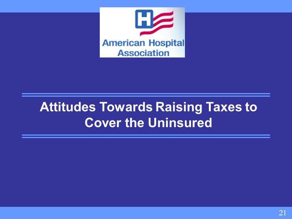 21 Attitudes Towards Raising Taxes to Cover the Uninsured