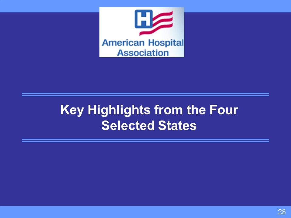 28 Key Highlights from the Four Selected States