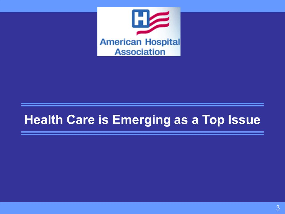 3 3 Health Care is Emerging as a Top Issue
