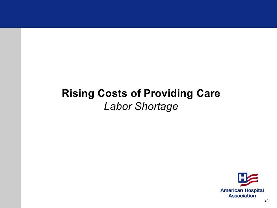 Rising Costs of Providing Care Labor Shortage 24