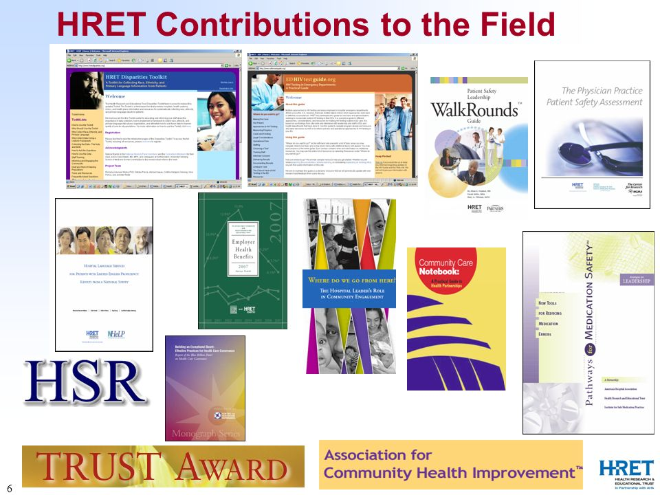 6 HRET Contributions to the Field