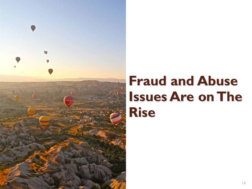 Fraud and Abuse Issues Are on The Rise 14