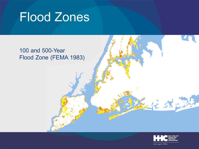 Flood Zones 100 and 500-Year Flood Zone (FEMA 1983)
