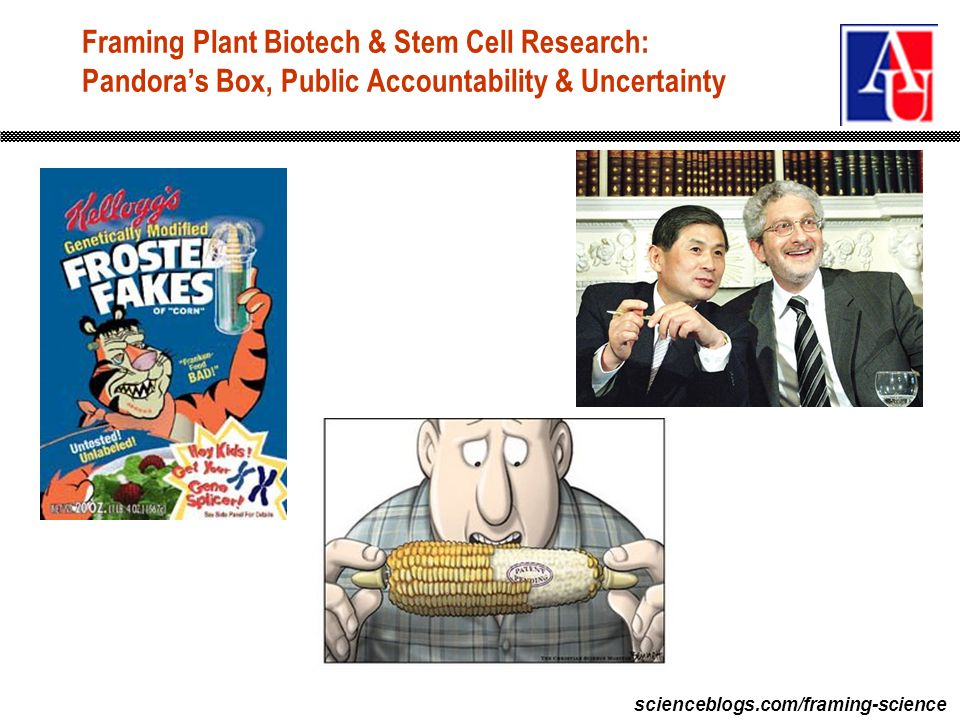 scienceblogs.com/framing-science Framing Plant Biotech & Stem Cell Research: Pandoras Box, Public Accountability & Uncertainty