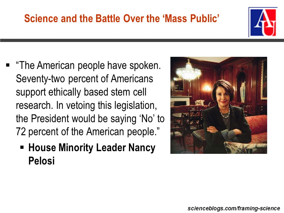scienceblogs.com/framing-science The American people have spoken.