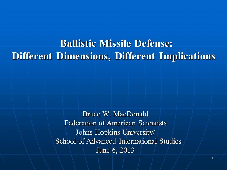 Ballistic Missile Defense: Different Dimensions, Different Implications Ballistic Missile Defense: Different Dimensions, Different Implications Bruce
