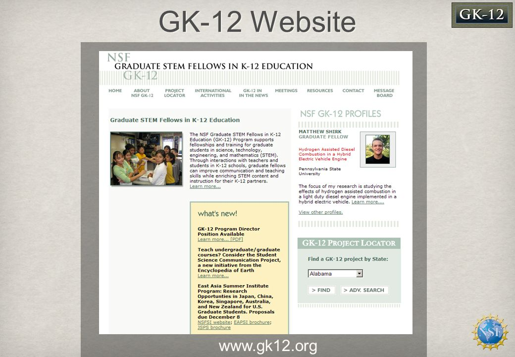 GK-12 Website www.gk12.org