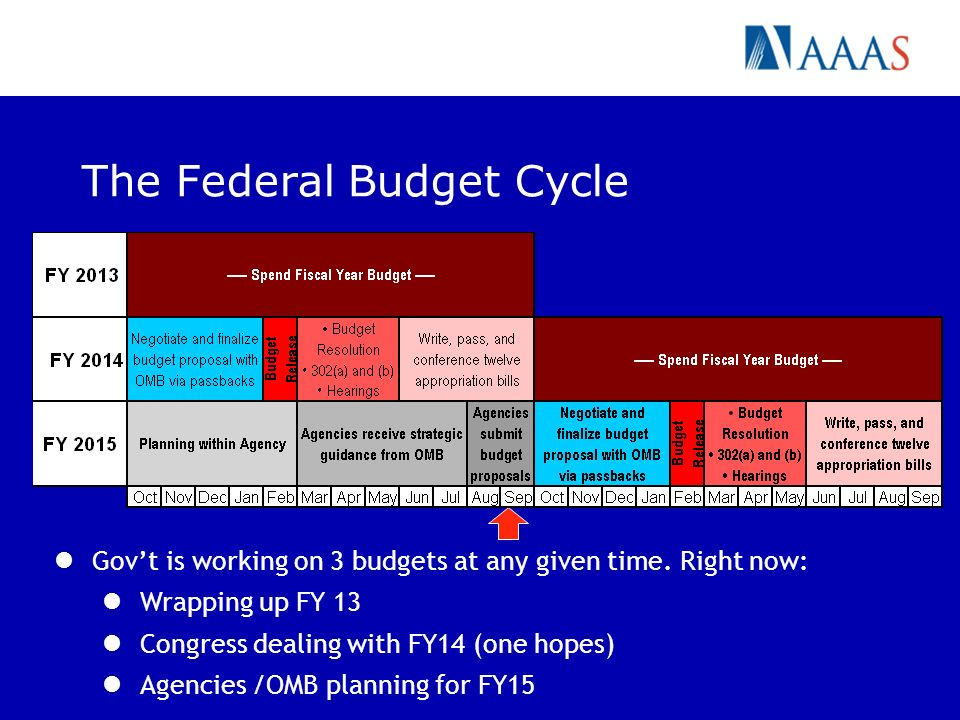 The Federal Budget Cycle Govt is working on 3 budgets at any given time.