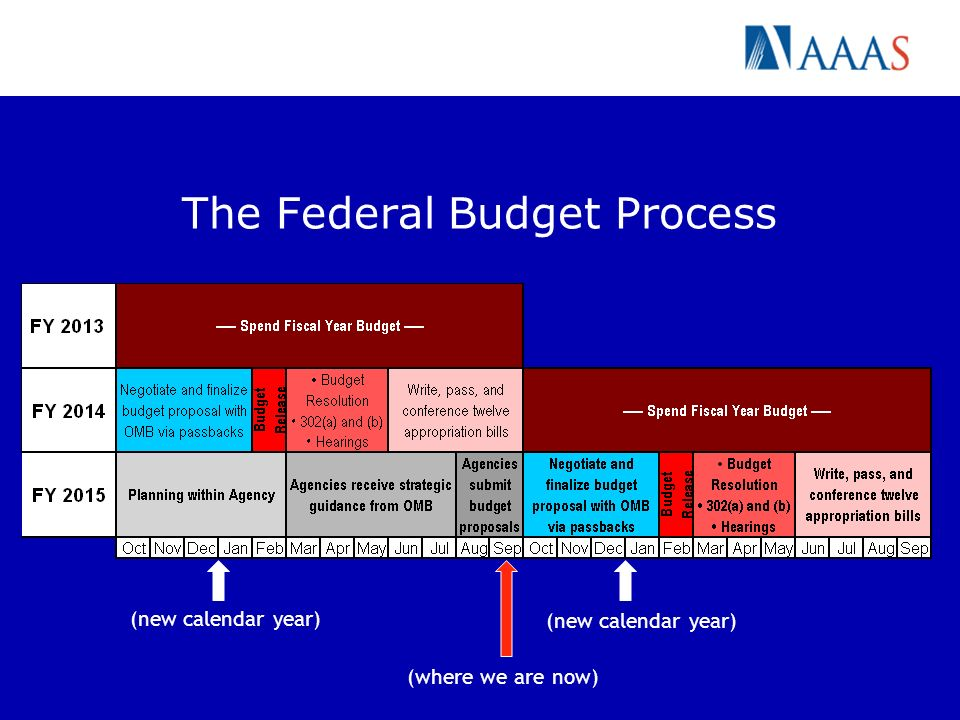 The Federal Budget Process (new calendar year) (where we are now)