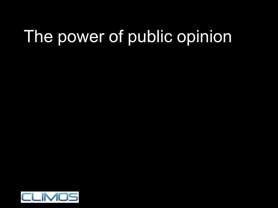 The power of public opinion