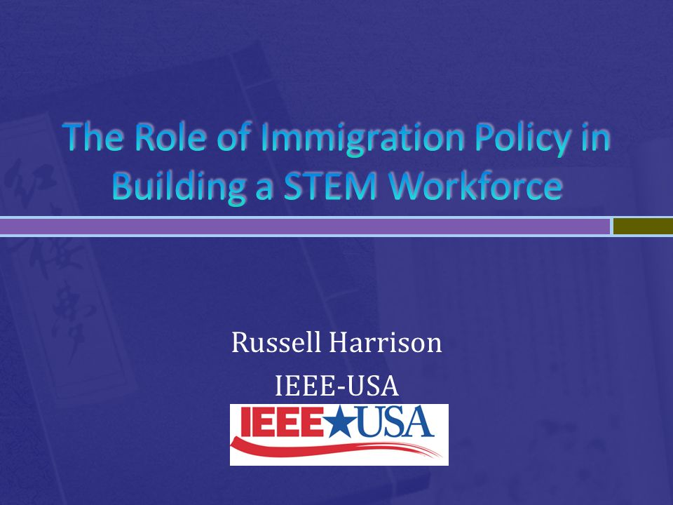 Russell Harrison IEEE-USA