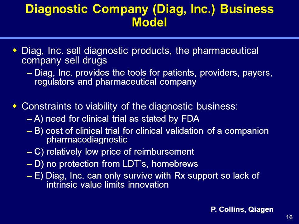 16 Diagnostic Company (Diag, Inc.) Business Model Diag, Inc.