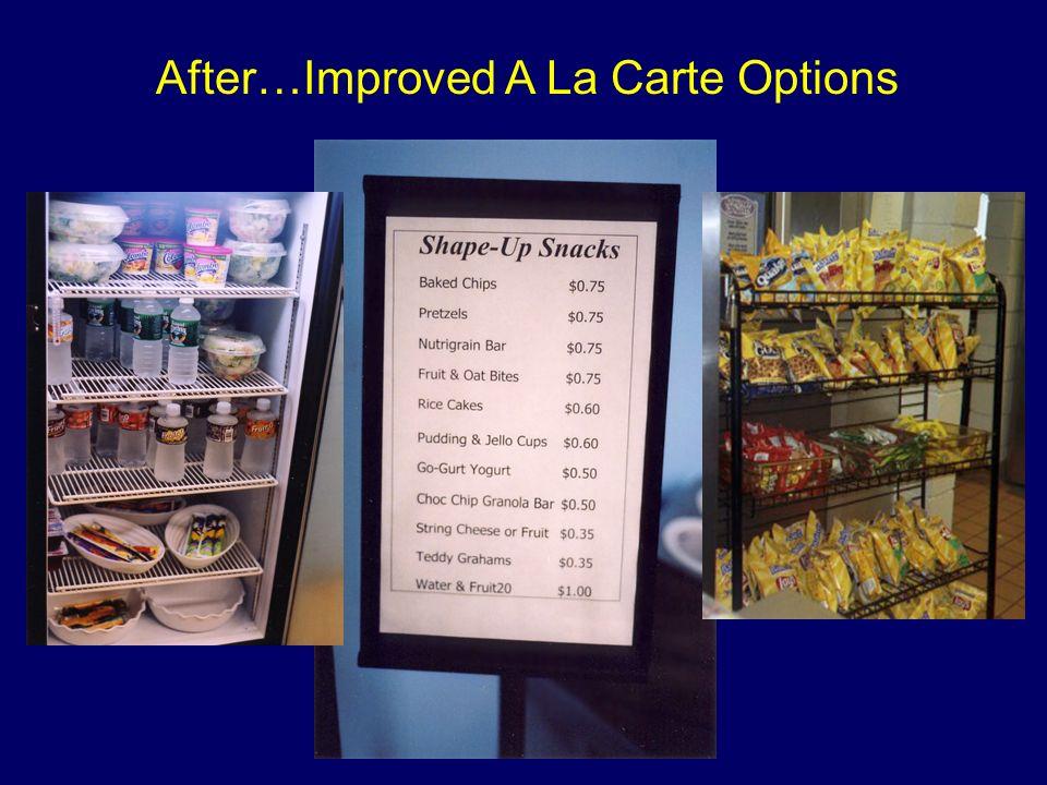 After…Improved A La Carte Options