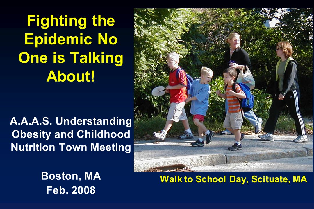 Walk to School Day, Scituate, MA Fighting the Epidemic No One is Talking About.