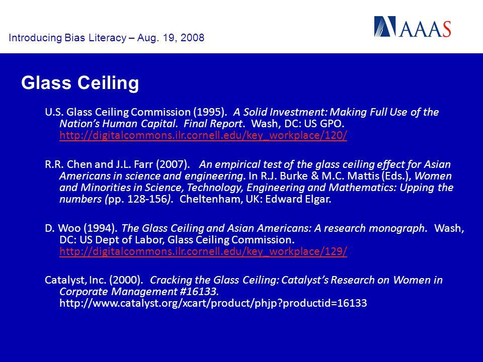 U.S. Glass Ceiling Commission (1995).
