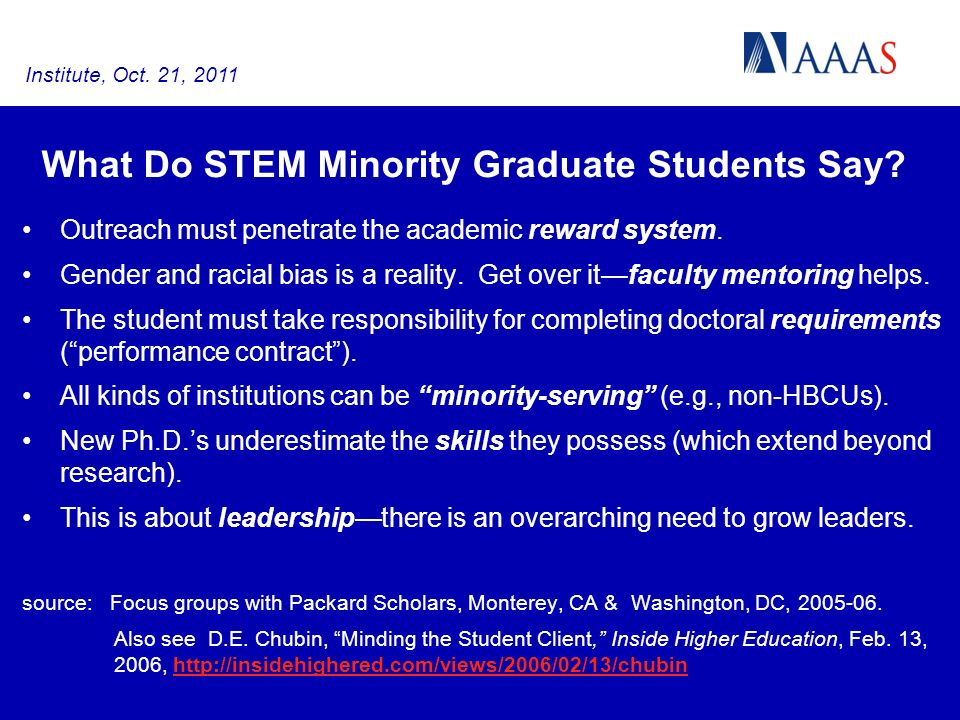 Outreach must penetrate the academic reward system.