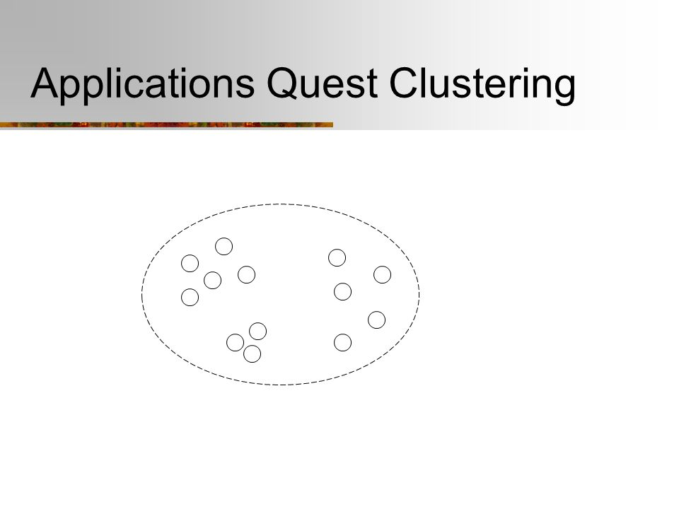 Applications Quest Clustering