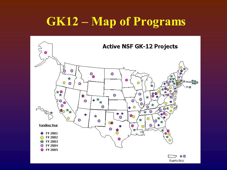 GK12 – Map of Programs