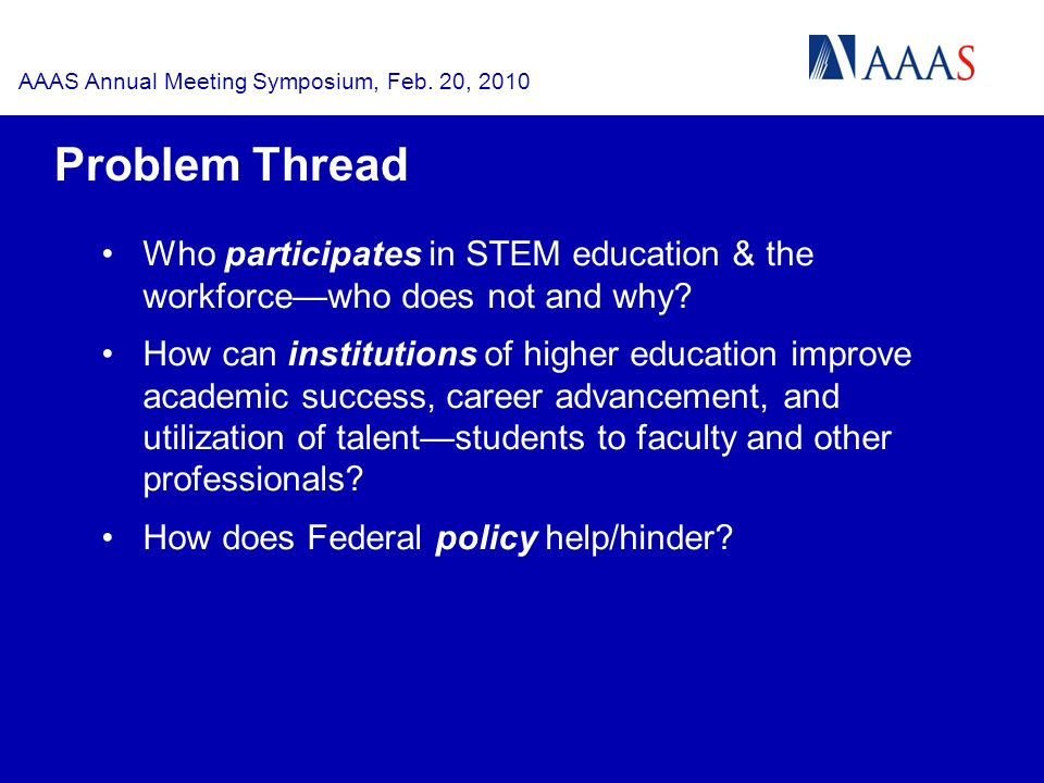 AAAS Annual Meeting Symposium, Feb.