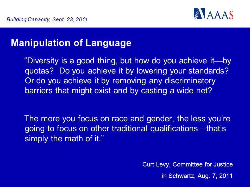 Manipulation of Language Diversity is a good thing, but how do you achieve itby quotas.