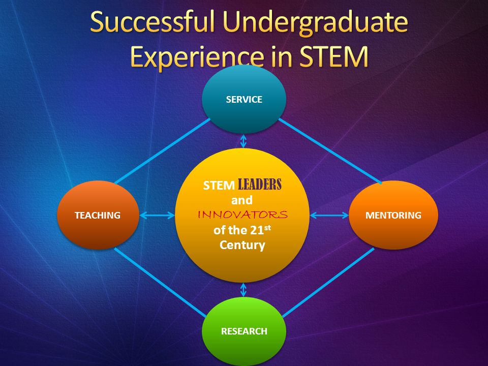 STEM LEADERS and INNOVATORS of the 21 st Century SERVICETEACHINGRESEARCHMENTORING