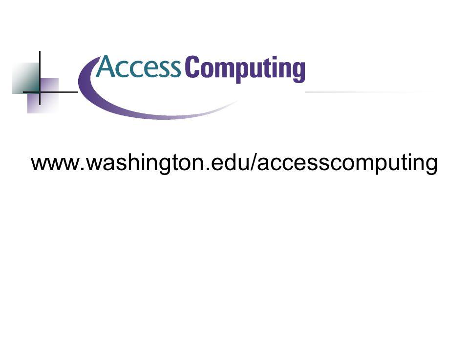 www.washington.edu/accesscomputing