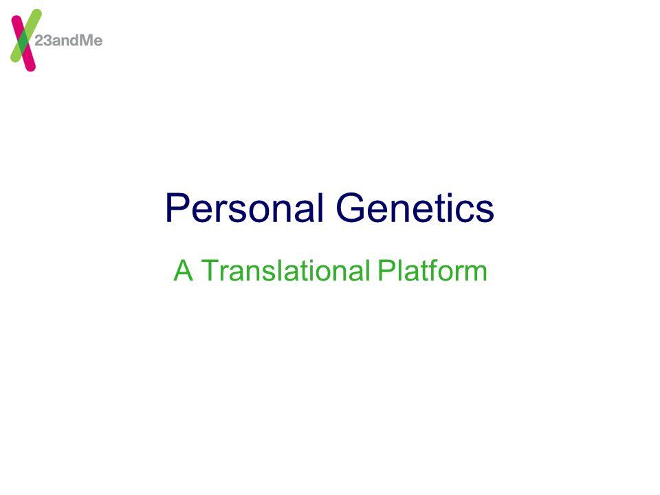 Personal Genetics A Translational Platform