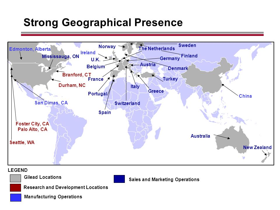 Strong Geographical Presence Australia Ireland U.K.