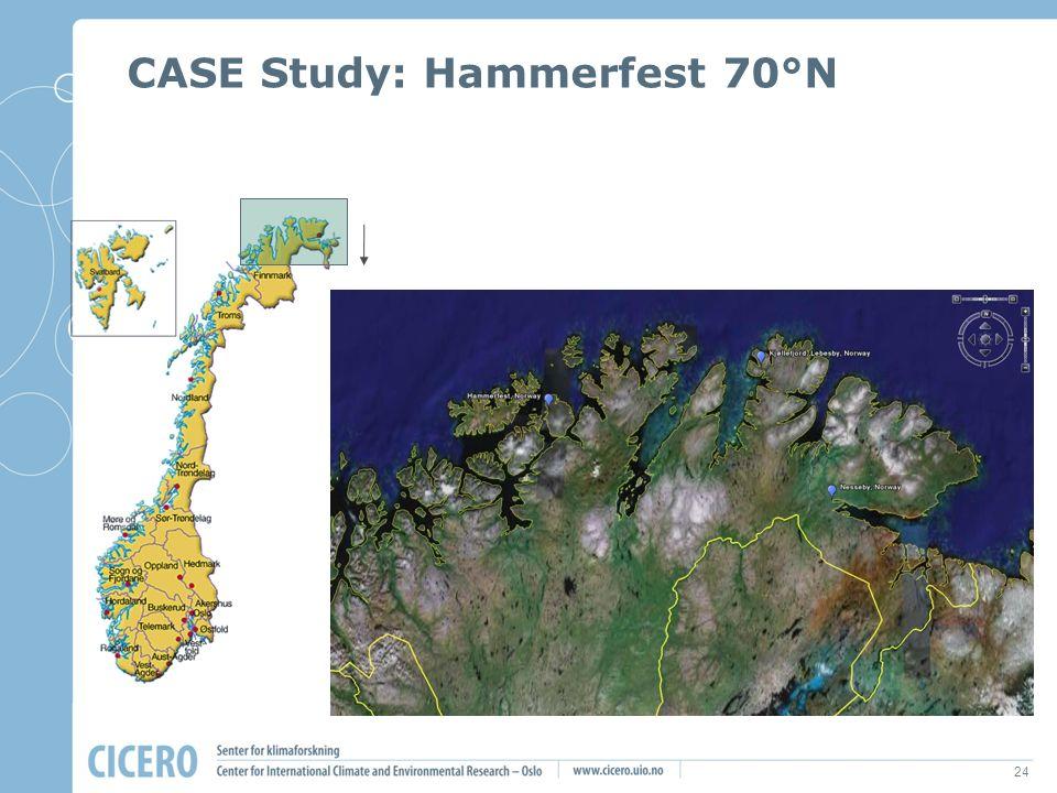24 CASE Study: Hammerfest 70°N