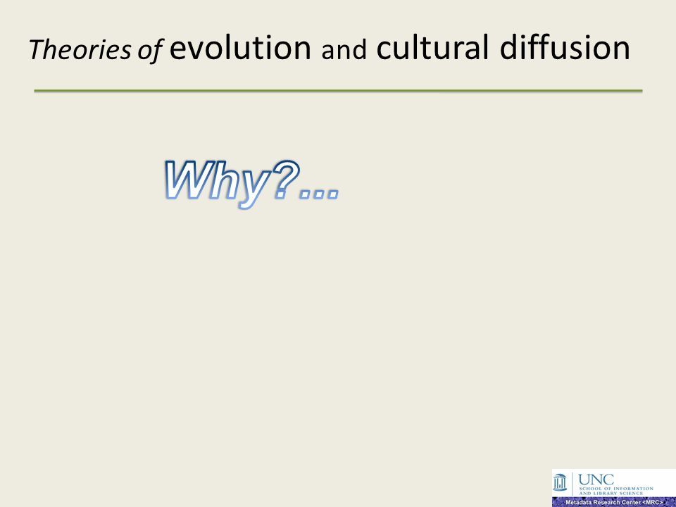 Theories of evolution and cultural diffusion