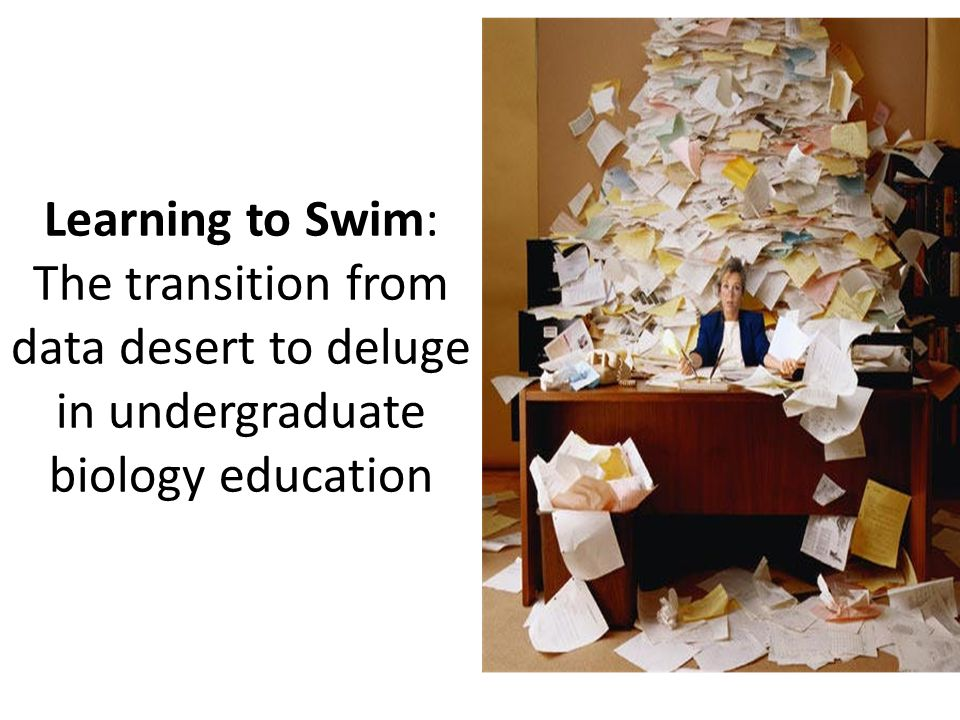 Learning to Swim: The transition from data desert to deluge in undergraduate biology education