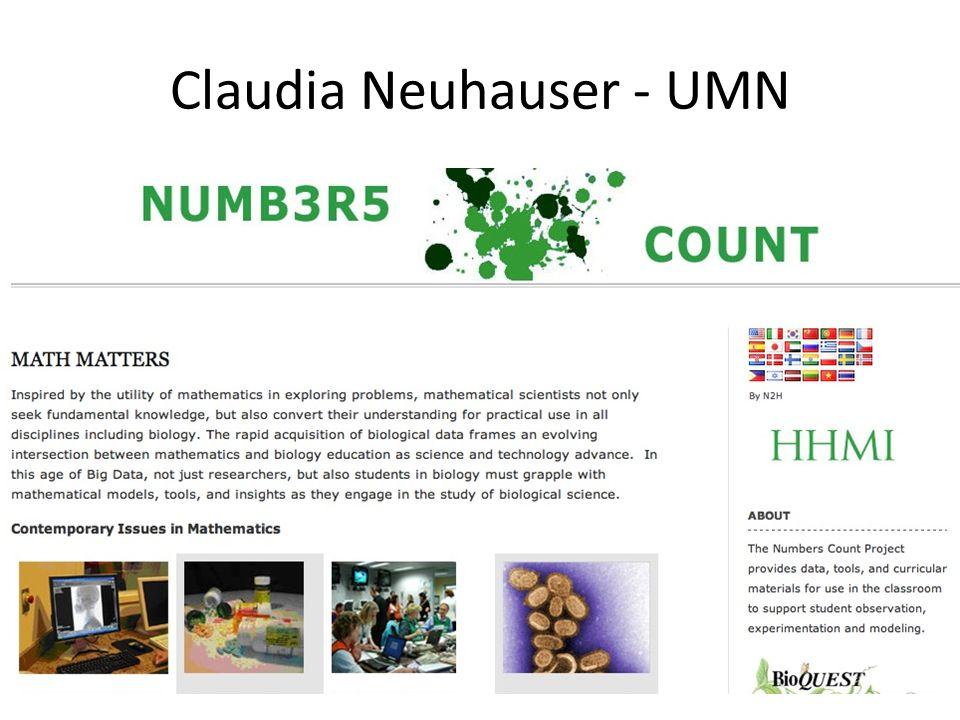 Claudia Neuhauser - UMN