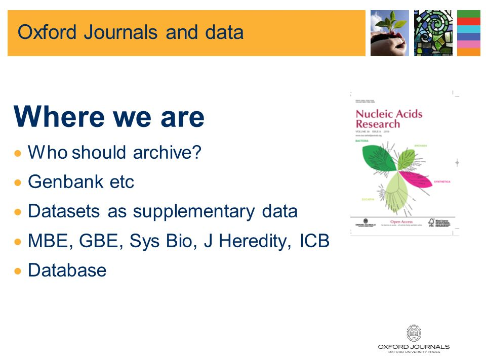 Why share data Oxford Journals and data