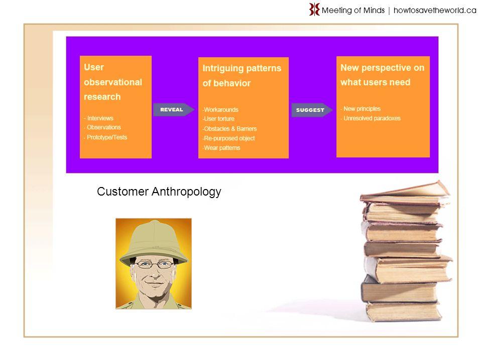 Customer Anthropology Meeting of Minds   howtosavetheworld.ca