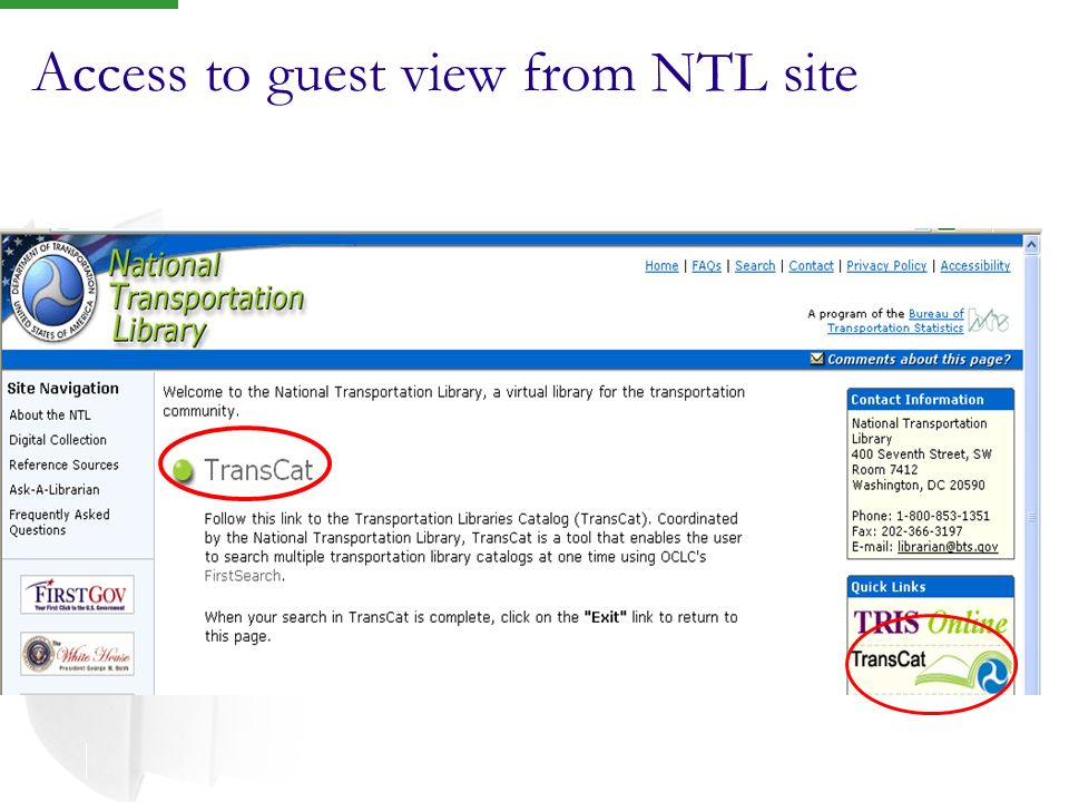 Access to guest view from NTL site