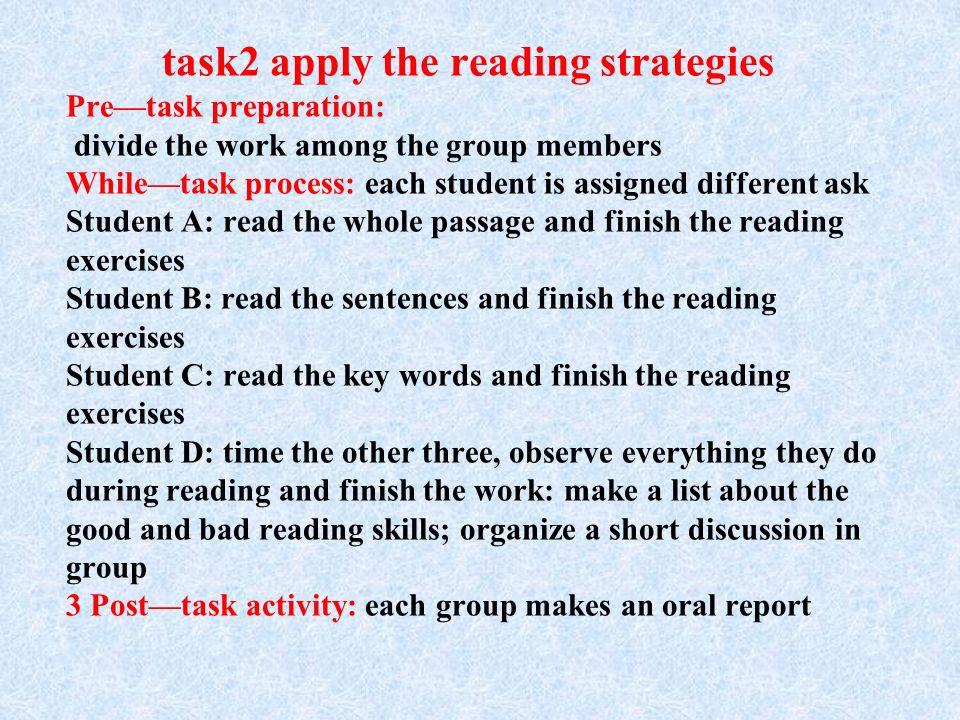 task1: prediction Pretask preparation: How to predict the passage.