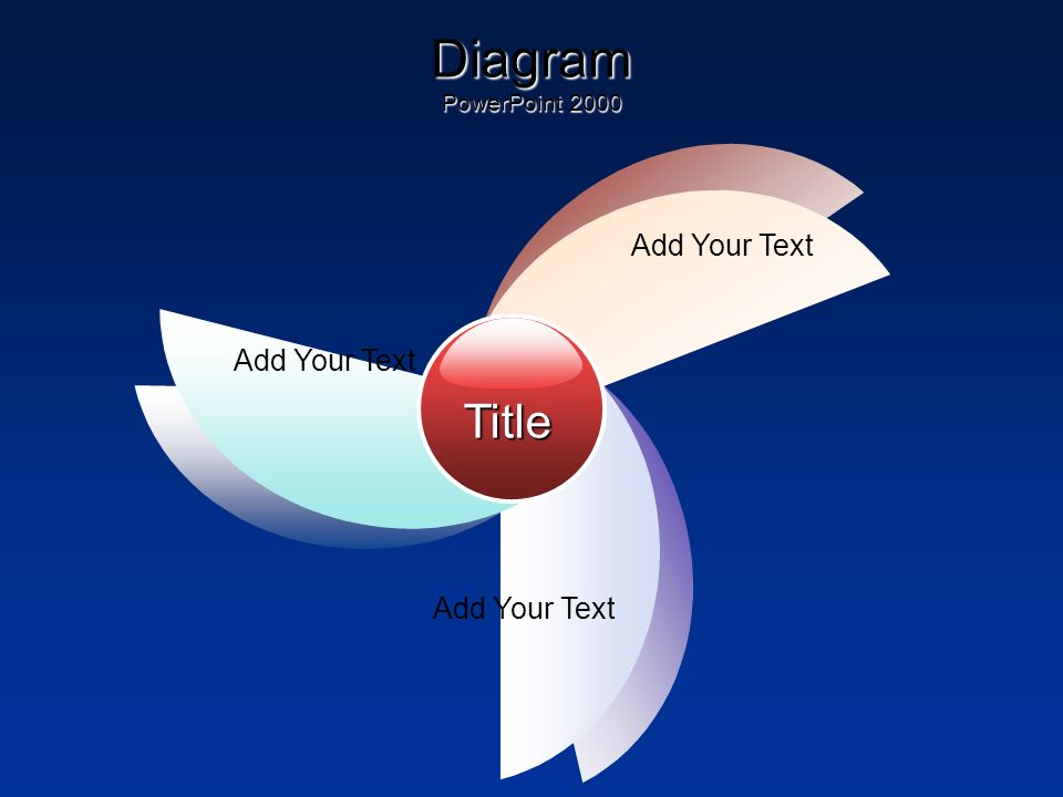 Diagram PowerPoint 2000 Title Add Your Text