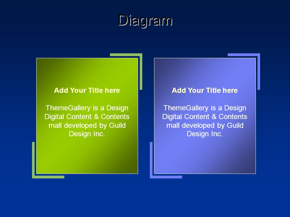 Diagram Add Your Title here ThemeGallery is a Design Digital Content & Contents mall developed by Guild Design Inc. Add Your Title here ThemeGallery i