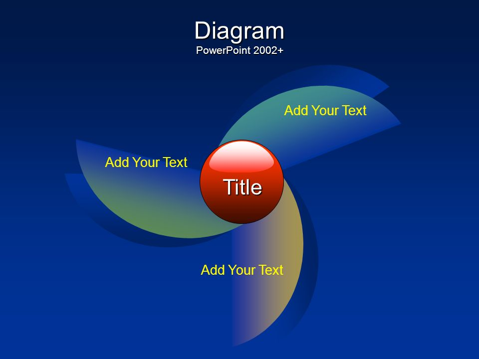 Title Add Your Text Diagram PowerPoint 2000