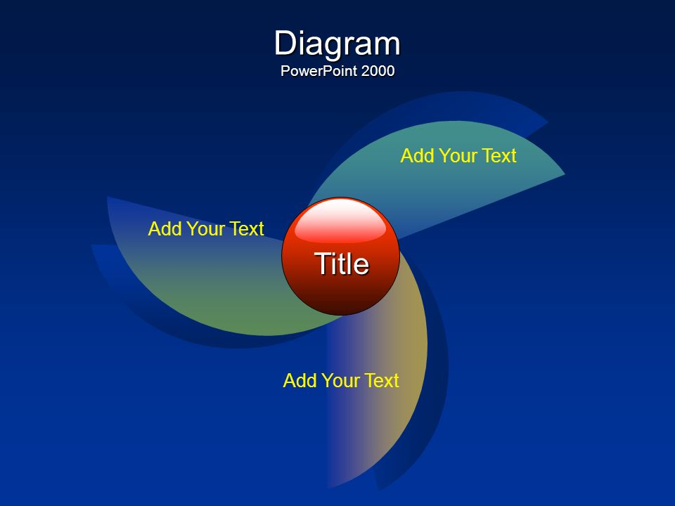 Diagram PowerPoint 2002+ Title Add Your Text