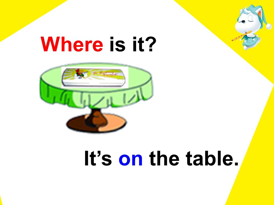 Where is it? Its on the table.