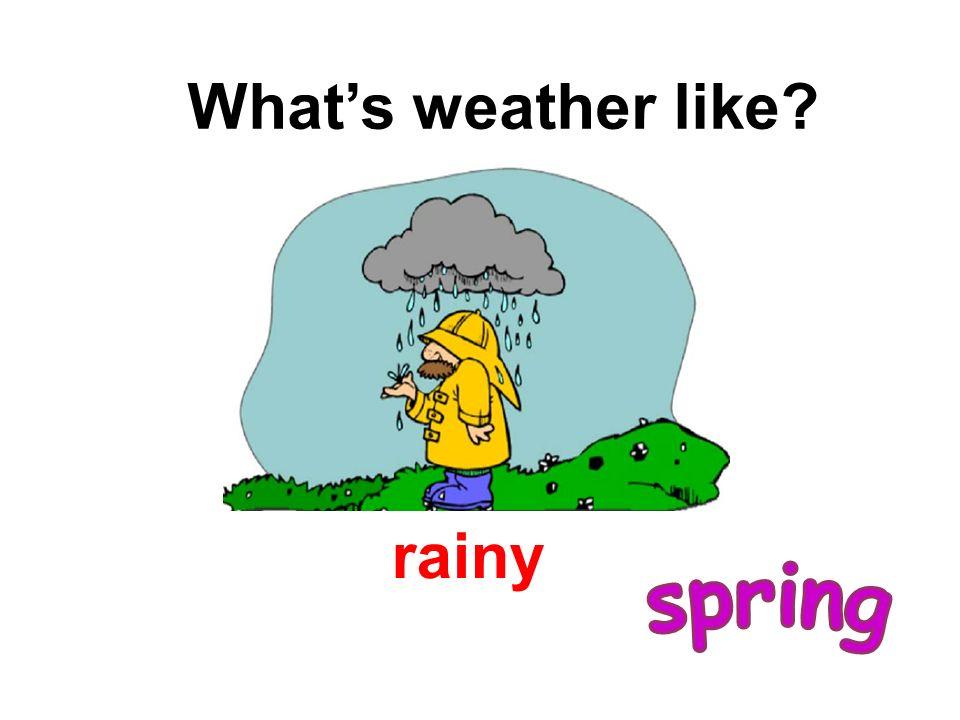 rainy Whats weather like?