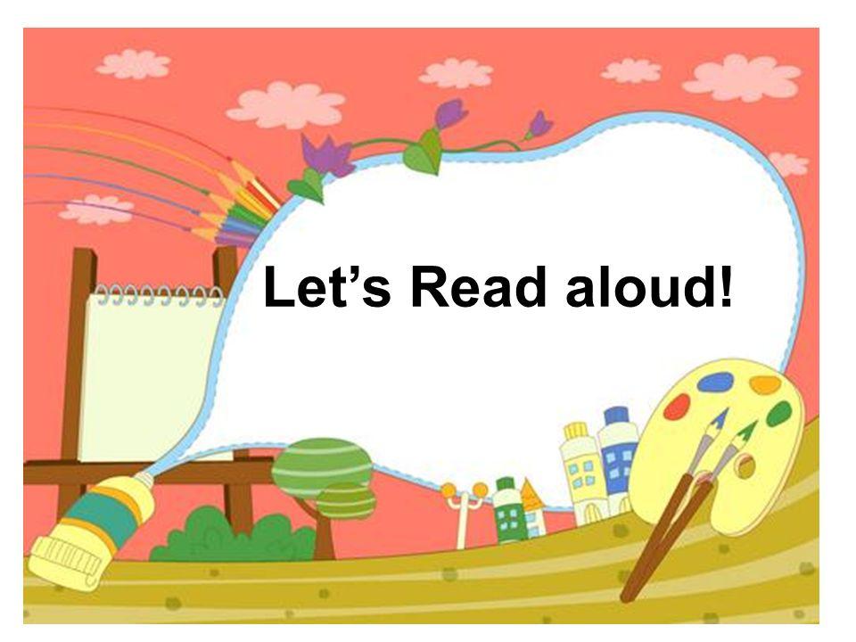 Lets Read aloud!