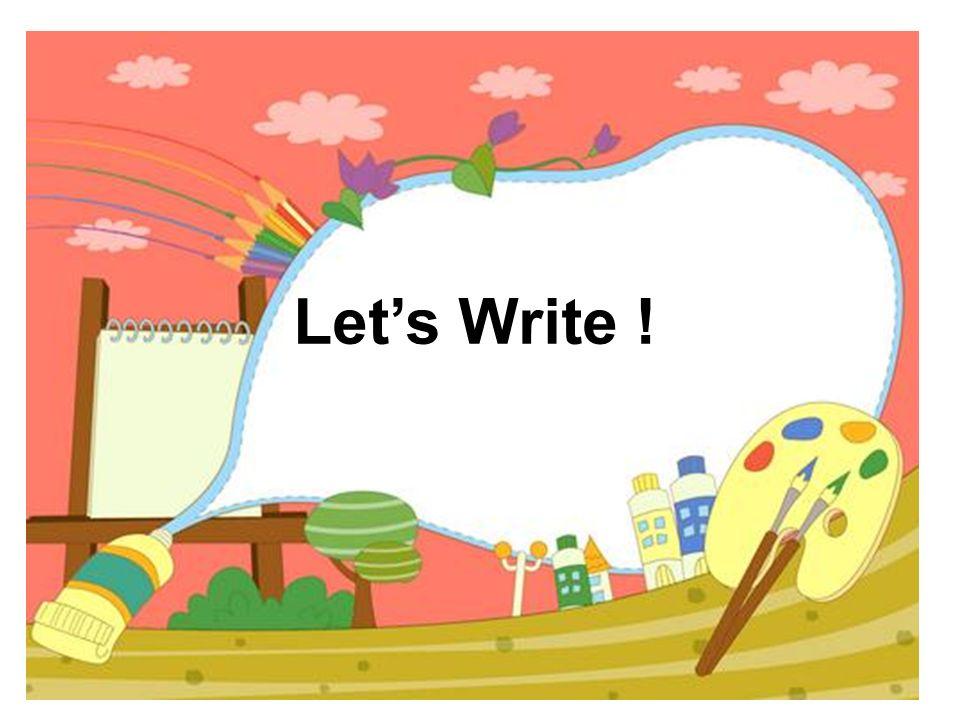 Lets Write !