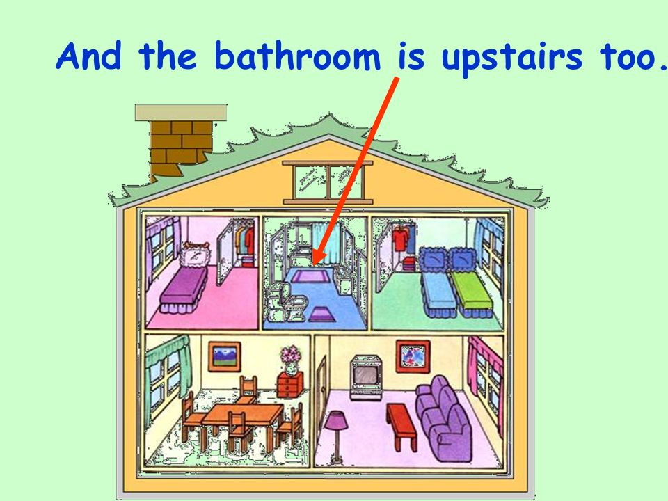 And the bathroom is upstairs too.
