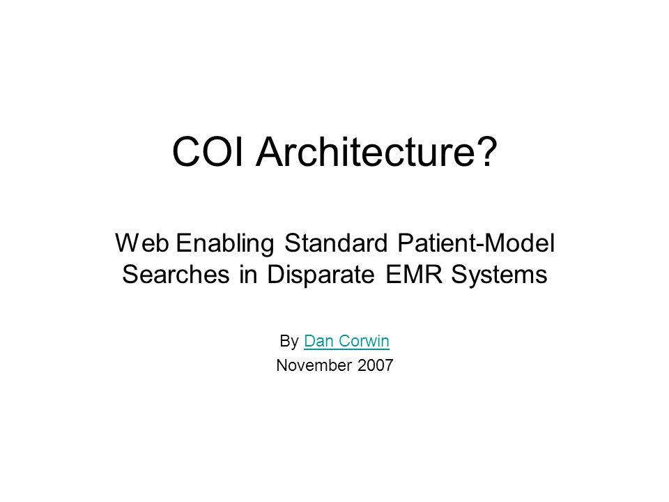 COI Architecture.