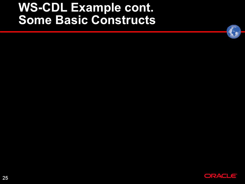 25 WS-CDL Example cont. Some Basic Constructs