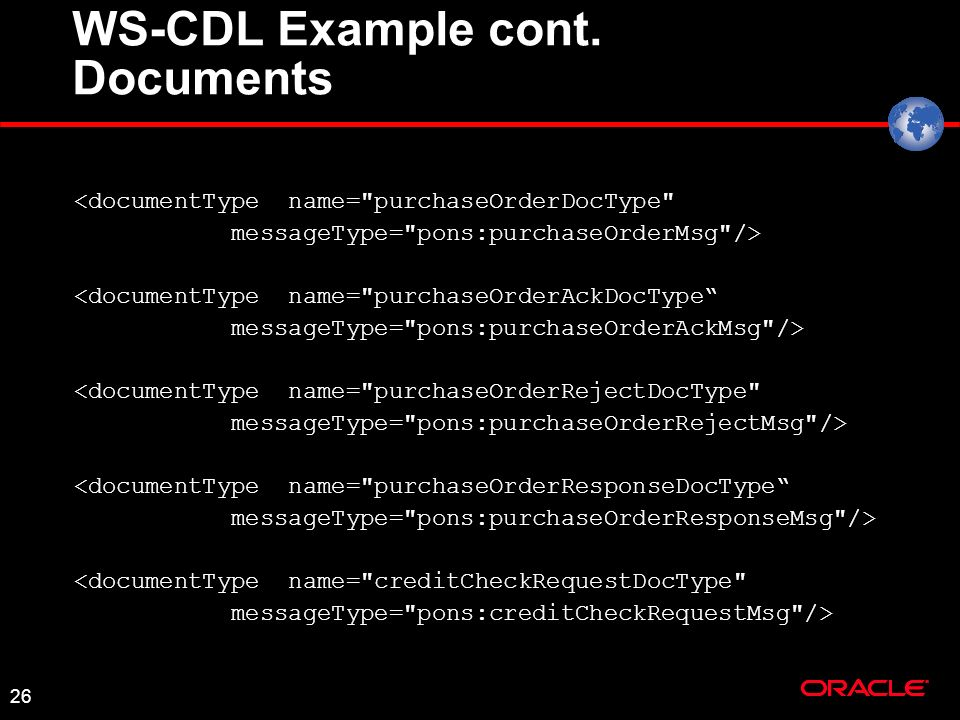 26 WS-CDL Example cont.
